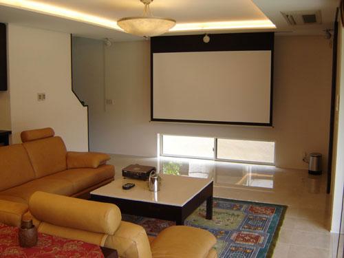 家用投影仪安装效果图